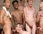 Twink gets double penetrated and covere with cum