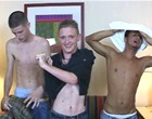 Horny amateur twinks fucking hard for some cool cash