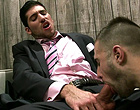 Horny gay boss drills his employee doggy style