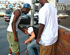 Two horny gay black thugs tempt straight drunk guy