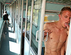 Gay Bareback porn on a train from two euro guys