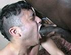 Two hot gay black thugs fucking white dude hard
