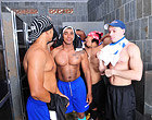 Muscular latino jocks have a huge orgy in the gym