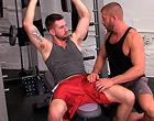Older gay jock men suck and butt fuck in the gym