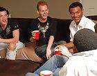 What happens when upper classmen invite freshmen to their parties big gay interracial sex