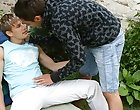 Sucking on Lucas cock gets him instantly hard every time men having sex outdoors