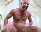 Older muscle dad takes 14 INCH DICK up the ass