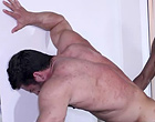 Interracial muscle gay men fuck each other hard